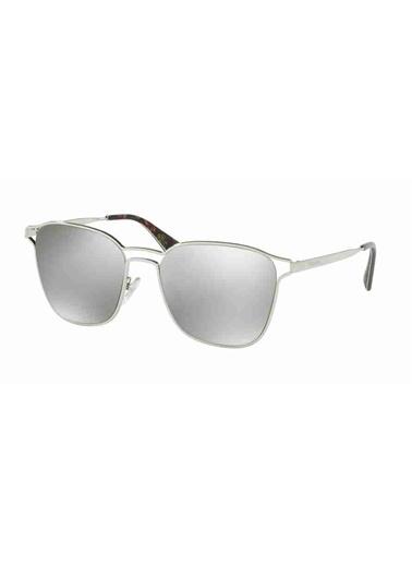 Prada Prada 54Ts 1Bc2B0 55 Ekartman Kadın Güneş Gözlüğü Gümüş